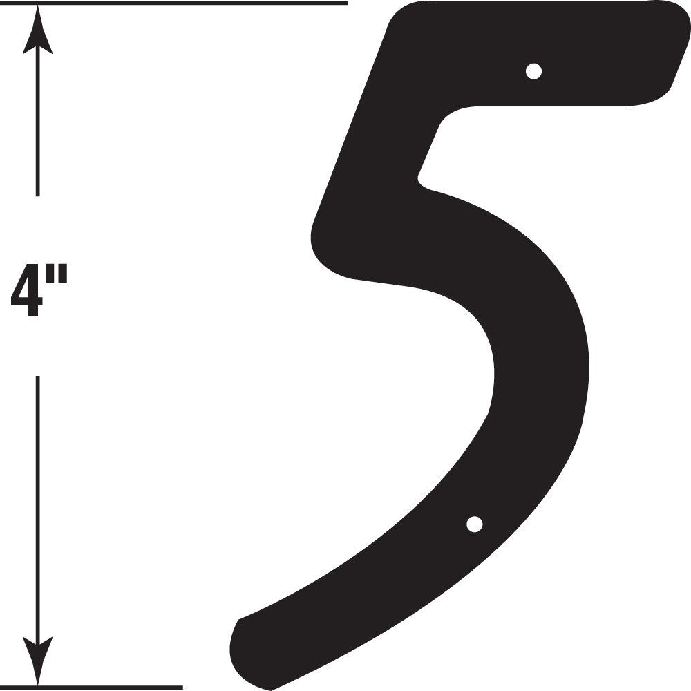 Black Finish 5, Pack of 2 4 in Zinc Die Cast Prime-Line Products MP4115 House Address#
