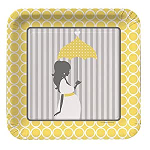 Creative Converting Mod Baby Shower Lunch Square Plate - 7 inches