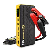 CAR ROVER 60C Discharge 800A Peak Portable Car Jump Starter 14000 mAh Booster Emergency Auto Battery Multi-function Pack Power Bank with Smart Clamp for Car, Truck, SUV, Boat, Lawn Mower