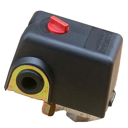 Válvula de control del interruptor de presión del compresor de aire de 220V 10A, Interruptor