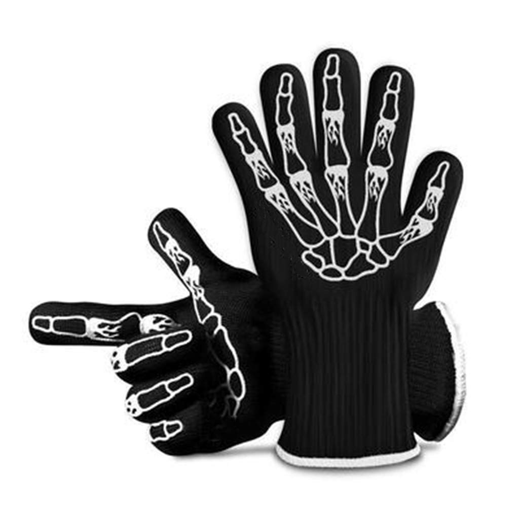 Oven Gloves - Funny Design, Black, One Size 2pack
