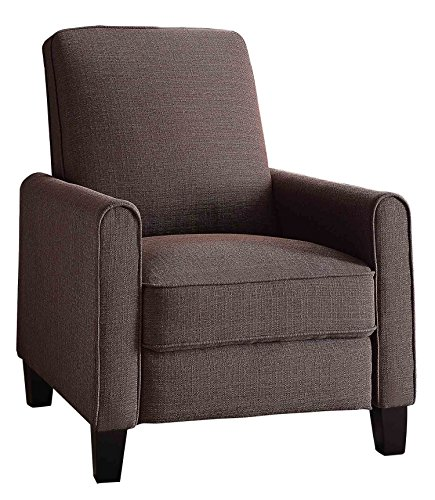 Homelegance Cavelle Fabric Push Back Reclining Chair, Chocolate ()