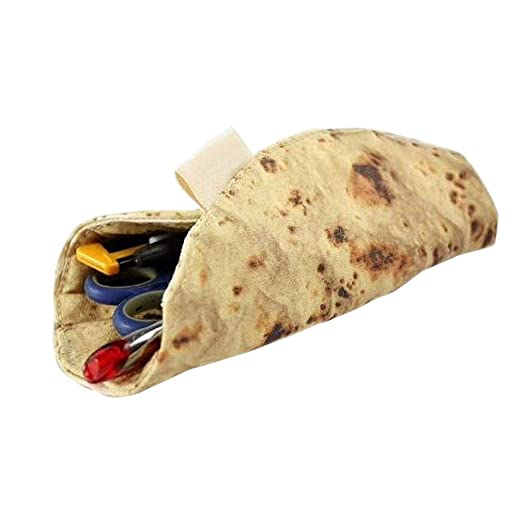 RecoverLOVE Simulación Creativa Burrito Shape Estuche de lápices ...