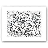 Jackson Pollock Number 14 Gray Art Print Poster - 11x14