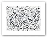 (11x14) Jackson Pollock Number 14 Gray Art Print Poster