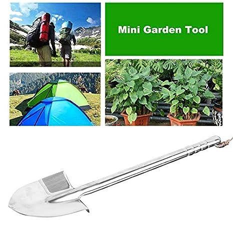 ouying1418 Stainless Steel Garden Shovel Durable Outdoor Explore Camping Spade Shovel