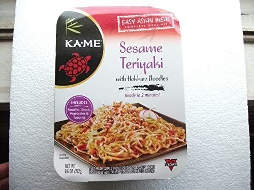 - Ka-Me Sesame Teriyaki with Hokkien Noodles (One Box - 9.6 oz) Easy Asian Meal Complete Kit