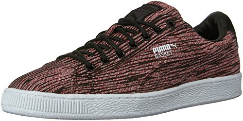 Cestino da uomo Classic Tiger Mesh Fashion Sneaker, Red Blast / Puma Black, 10 M US