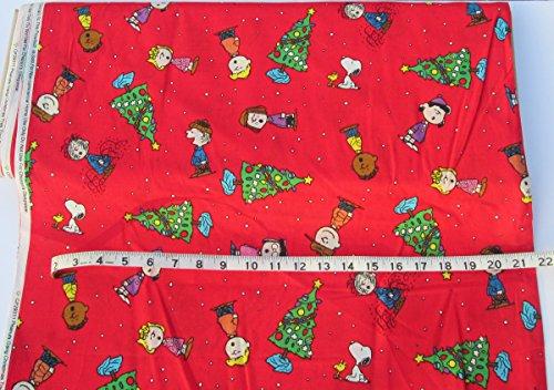 Holiday Inspirations Fabric-Peanuts Gang Trees (Peanut Holiday)