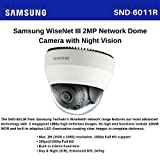 Samsung Techwin SND-6011R 2MP 1080p Full HD Network IR Wisenet III Fixed Dome Camera