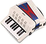 Mugig Piano Accordion, 17 Key Keyboard Piano with 8 Bass Button, include Adjustable Shoulder Strap, Air Valve, Kid Instrument for Early Childhood Development