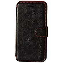 iPhone 6S Case, Verus [Layered Dandy][Black] - [Card Slot][Premium Leather Wallet][Slim Fit] For Apple iPhone 6S 4.7