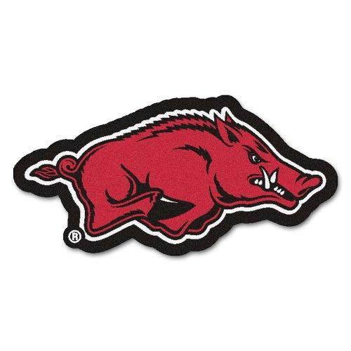 FANMATS NCAA University of Arkansas Razorbacks Nylon Face Mascot Rug ()