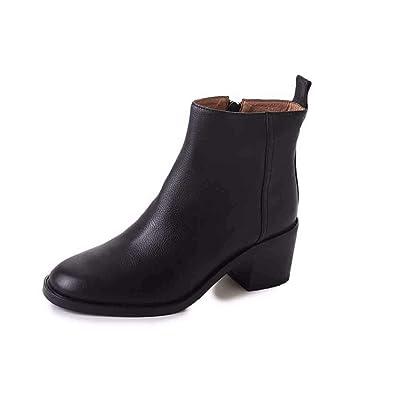 KOKQSX Frauen Mode Stil hundert Schuhe nackt Stiefel