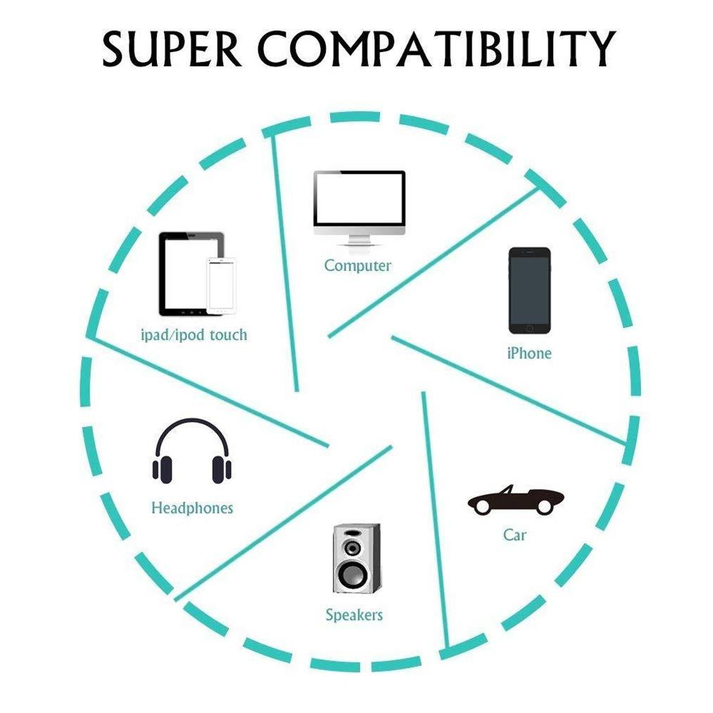 Adattatore cuffie per iPhone 7 AUX Audio Jack per cuffie da 3.5 mm adattatore per iPhone XS//XS max//XR//x//8//8 Plus//7//7 Plus auricolare connettore audio AUX cavo compatibile con IOS12