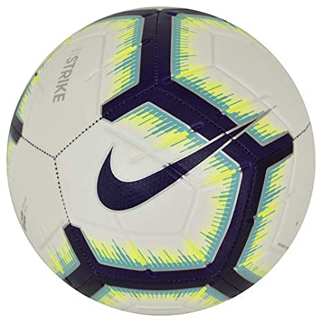 629bed386bd Amazon.com   NIKE 2018-2019 EPL Strike Soccer Ball White Blue Purple ...