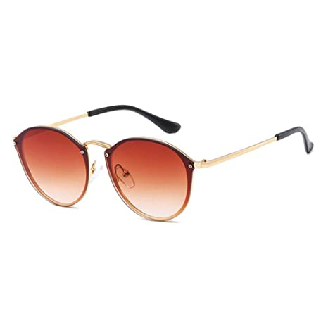 Yangjing-hl Gafas de Sol Retro Mujer Espejo Gafas de Sol ...