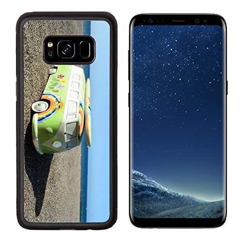 Liili Premium Samsung Galaxy S8 Aluminum Backplate Bumper Snap Case Detail of a Vintage Hippie Van Toy in the Beach with Surfboard on Roof 28200076 - Pictures Of Hippies In The 60s
