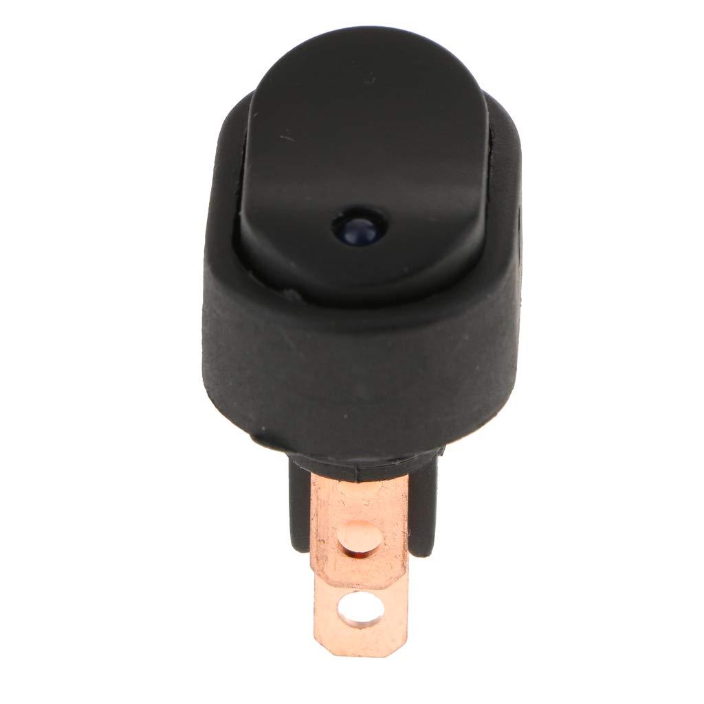 SM SunniMix Auto Kippschalter Druckschalter Schalter Wippschalter Wasserdicht 12V 30A LED Licht 3 Polig - Rot