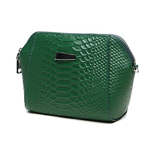Womens Weiche Große Kapazität Kupplung Handytasche Brieftasche Messenger Shell Bag Mini Kette Tasche Green J2sYN