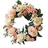Rose Wreath Home Wall Decor Wedding Door Decorations