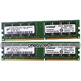 FidgetGear 2GB 2x1GB PC-3200 DDR-400 184 PINメモリ(Dell Dimension 1100用)2400 3000 4600