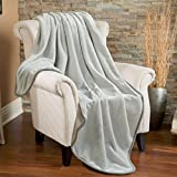 Fleece Throw Blanket 330 GSM Super Soft Warm Extra Silky Lightweight Bed Blanket, Couch Blanket, Travelling and Camping Blanket (Smoky Grey)