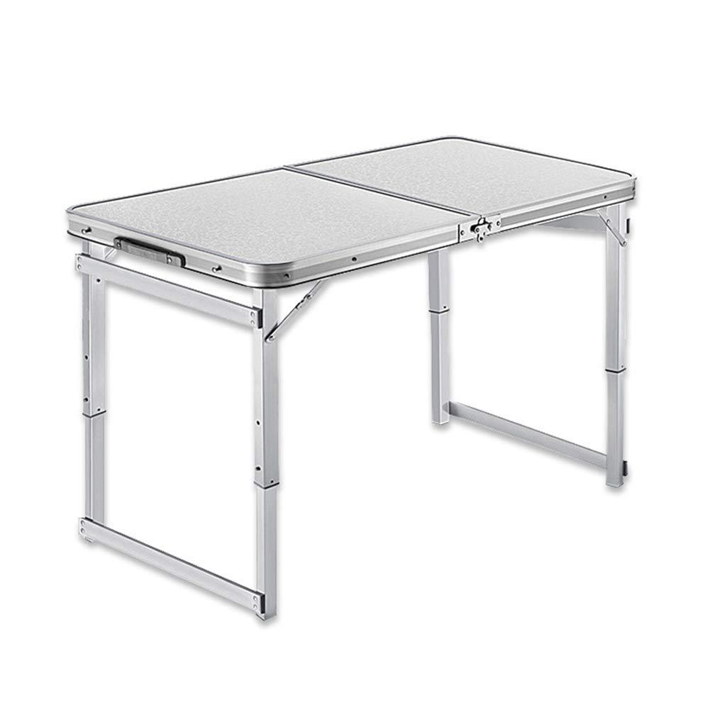 PM-TAIDU Klapptisch Draussen Tragbar Camping-Tisch, Aluminiumlegierung Innen Esstisch Laptop-Tisch, Ticnic Stall Table, 120  60  75 cm,Weiß
