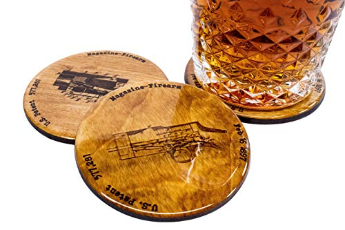 Browning Shotgun Patent Coasters - Set of 4 3.5
