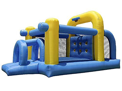 cloud 9 tunnel course bounce house inflatable climbing obstacle with basketball hoop wout blower - Bounce House For Sale