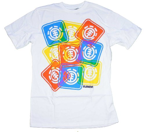 T-shirt Mens Short Element (Element EZ T-Shirt - White - S)