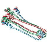 Gor Pets T526 Dog Chew Toy 1-Knot Cotton Rope Tug with Spider Legs