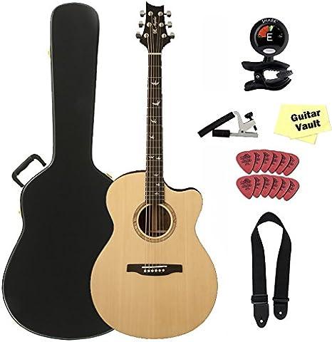 PRS a15al se Alex Lifeson Thinline guitarra acústica con funda ...
