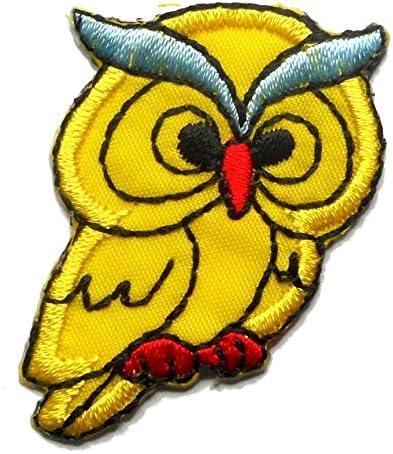 【ノーブランド品】アイロンワッペン ミニワッペン ワッペン 刺繍ワッペン ふくろう フクロウ アイロンで貼れるワッペン
