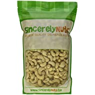Sincerely Nuts Raw Cashews Whole & Unsalted No Shell - Two lbs. Bag - Crunchy, Fulfillingly Delicious - Full of Minerals, Fibers, Vitamins & Antioxidants - Kosher