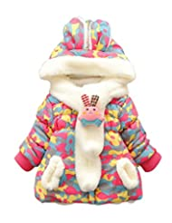 Baby and Toddler Girl's Kids Camouflage Winter Coat Jacket Outwear with Ears
