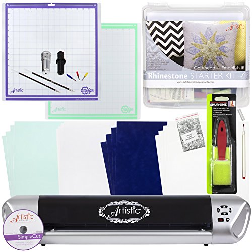 Janome Artistic Edge 15IN Craft Cutter and Starter Kit Bundle (Rhinestone Starter Kit) by Janome
