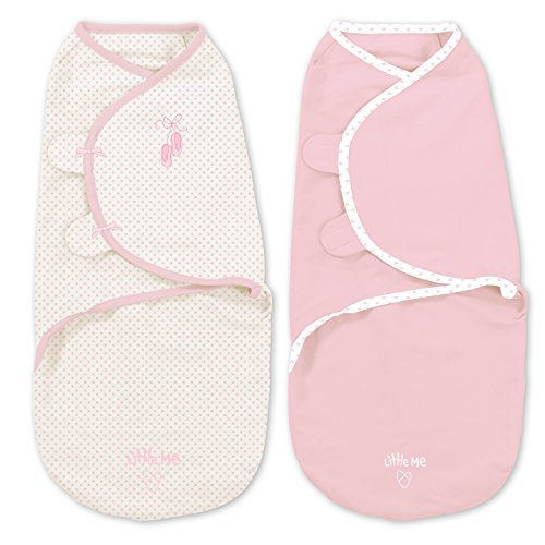 Little Me Original Swaddle 2-PK  Prima Ballerina (SM)