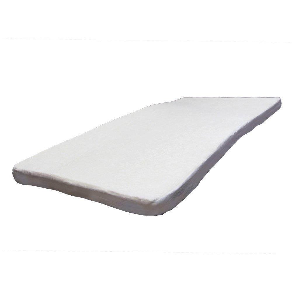 低反発マットレス セミダブル 密度40D 極厚8cm 洗える カバー 【ホワイト】 B075FH9LH7