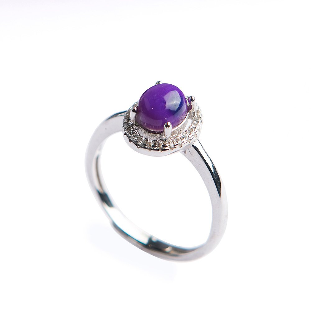 Fashion Ring Size Adjuster Natural Sugilite Crystal Gemstone for Women Party Wedding