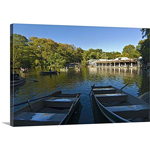 (New York, New York City, Central Park, Loeb Boathouse Canvas Wall Art Print, 48