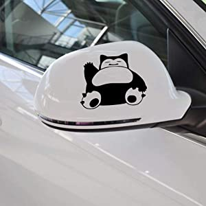 A Design World Snorlax Pokemon Vinyl Car Decal Custom Stickers Print Picture Photo Art Sticker Personalized Tuning Decals Window - Bumper - Door Color Selection