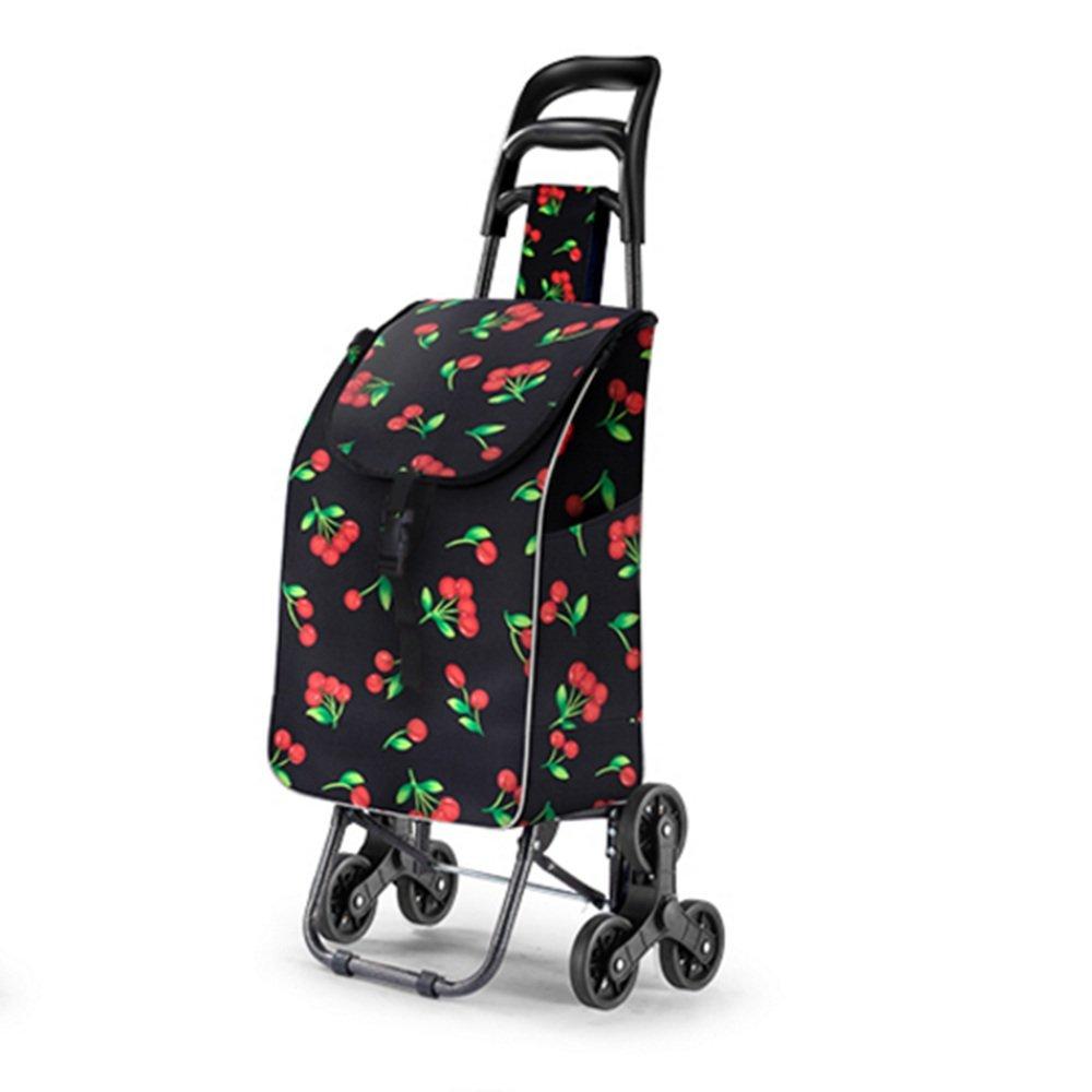 NAN ショッピングトロリー/スチールフレーム/Max。耐荷重:40kg/袋:容積:50L トレーラー (色 : Cherry) B07DZFFHY4 Cherry Cherry