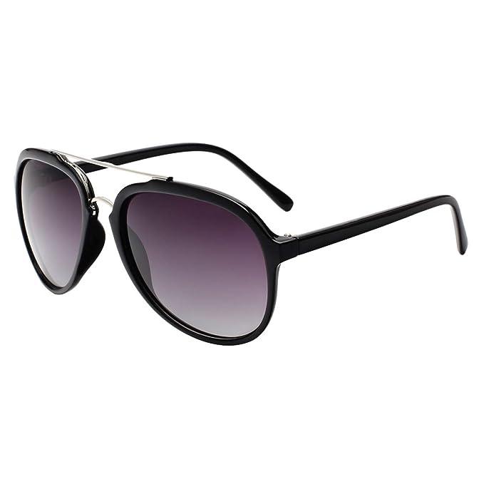 Vivienfang mármol Retro clásico Aviator Gafas de sol de ...