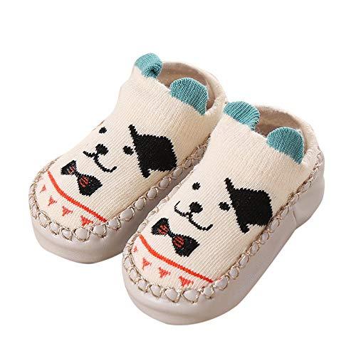 ❤️ Mealeaf ❤️ Newborn Baby Boys Girls Cartoon Ears Floor Socks Anti-Slip Baby Step Shoes - Chart Yarn Canvas