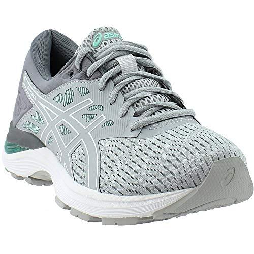 ASICS Womens Gel-Flux 5 Running Shoe, Mid Grey/White/Opal Green, Size 10 (Asics Gel Energy)