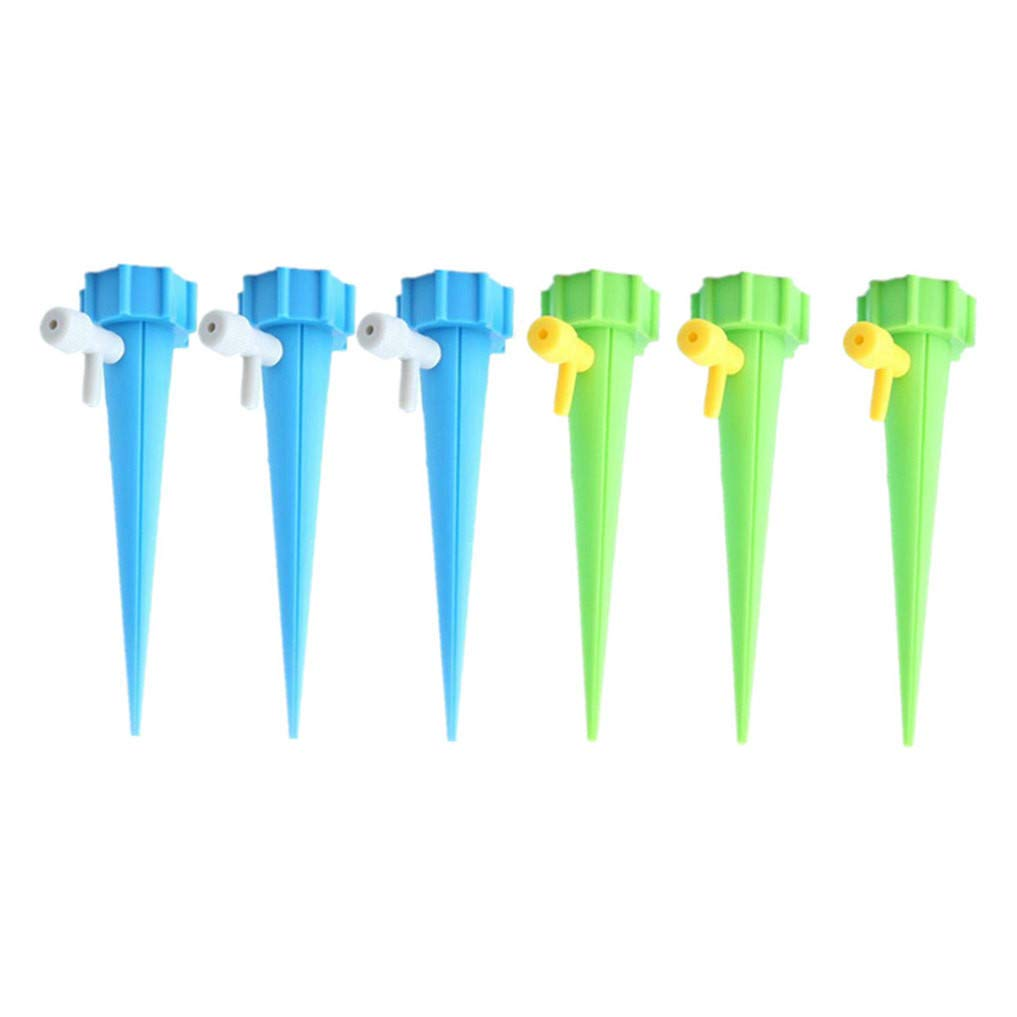 Tuu 6PCS Automatic Plant Waterers,Plant Watering Devices Plant Waterer Slow Release for Outdoor Indoor Use (Green)