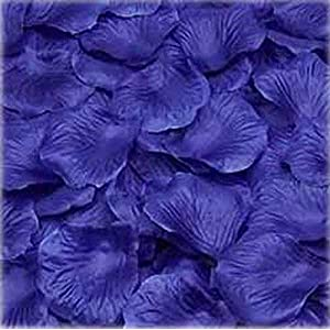 1000pcs Deep Blue Silk Rose Petals Bouquet Artificial Flower Wedding Party Aisle Decor Tabl Scatters Confett 13
