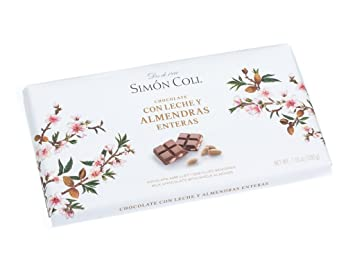 Simon Coll Milk Chocolate With Complete Almonds 200g Bar