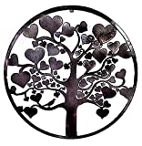 Cheap Bellaa 20223 Love Tree of Life Metal Wall Hanging Garden Art 24 Inches